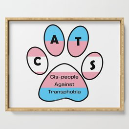 Cis-people Against Transphobia (CATS) Serving Tray