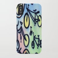 bikes iPhone & iPod Cases featuring Bikes by JustinPotts