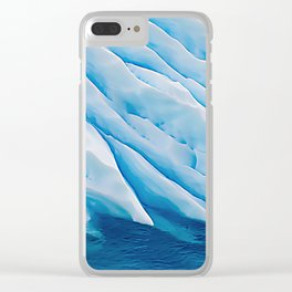 Blue Ice Iceberg Slipping Into Ocean Waters Clear iPhone Case