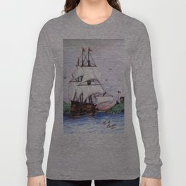 The Sea Lion in full sail Long Sleeve T-shirt