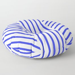 Lined Blue Floor Pillow