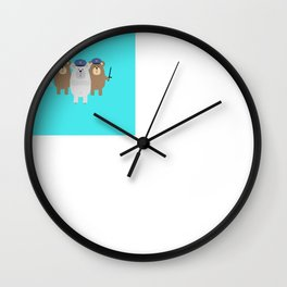 Bears Police Officer Wall Clock