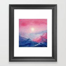 Pastel vibes watercolor 01 Framed Art Print