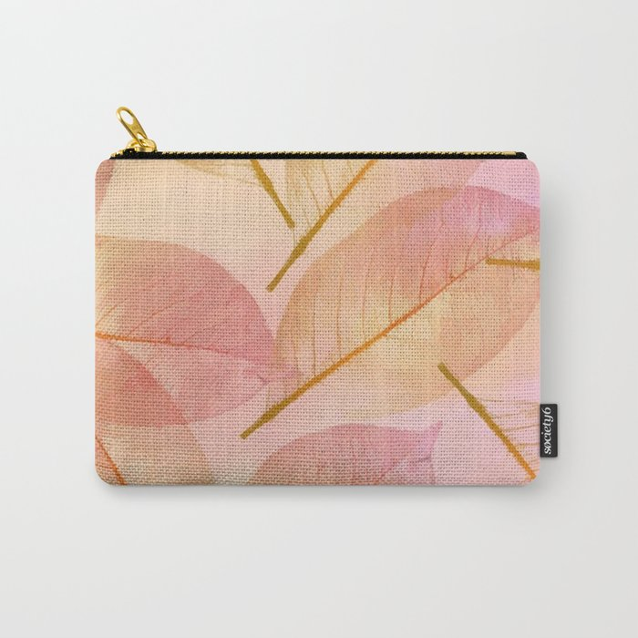 Pastel Fall Leaf Abstract Carry-All Pouch