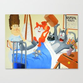 Rupert & Twinkles At the Hospital Canvas Print