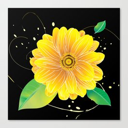 Helianthus Midnight - The Color of Vitality, Intelligence, and Happiness Canvas Print