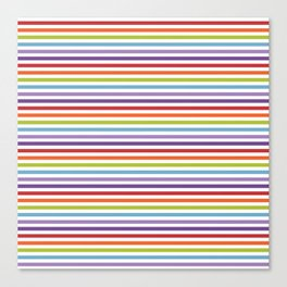 Modern artistic geometrical colorful violet orange green stripes Canvas Print