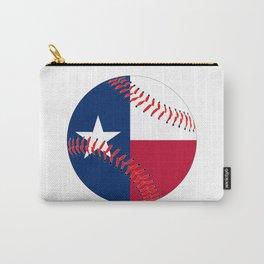 Texas Flag Baseball Carry-All Pouch