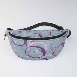 Abstract Bubbles purple grey Fanny Pack
