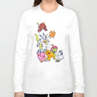 digimon Long Sleeve T-shirts featuring Digimon Adventure Partners by Jelecy