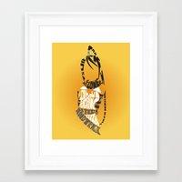 soul eater Framed Art Prints featuring Tsubaki Nakatsukasa soul eater by Rebecca McGoran