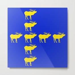 Graphic Swedish Elk Flag III Metal Print
