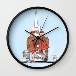 San Francisco's iconic Brown Twins Wall Clock
