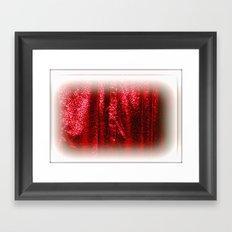 Opening Curtain Framed Art Print