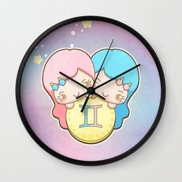 Kawaii Zodiac - Gemini Wall Clock