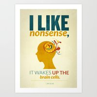 dr seuss Art Prints featuring Dr. Seuss by Kongoriver