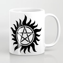 Anti Possession Sigil Black Coffee Mug