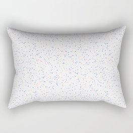 Speckles I: Rose Quartz & Serenity on Snow Rectangular Pillow