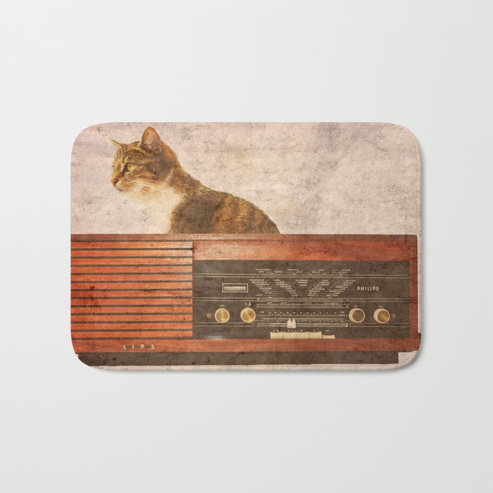 The Cat and the Radio Bath Mat