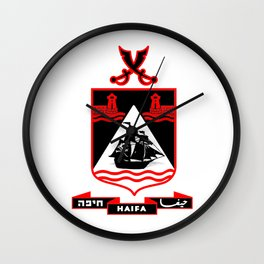Haifa logo (the pirates) Wall Clock