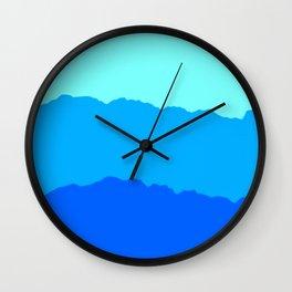 Minimal Mountain Range Outdoor Abstract Wall Clock