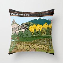 Vintage Poster - Arizona National Historic Trail (2018) Throw Pillow