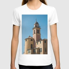 Pastel colored, yellow and pink church in Amalfi coast | Travel photography print | Italy Art Print T-shirt