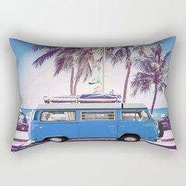 Retro Van On Beach Rectangular Pillow