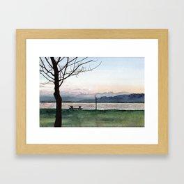 at Lake Constance Framed Art Print