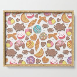 Mexican Sweet Bakery Frenzy // white background // pastel colors pan dulce Serving Tray