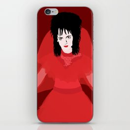 Lydia in Red on Maroon iPhone Skin