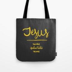 Jesus - nome sobre todo nome Tote Bag