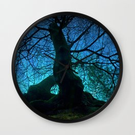 Tree under a spangled sky (light) Wall Clock