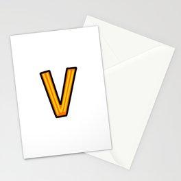 Uppercase Doodle Letter V Stationery Cards