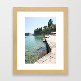 Greece Paradise Framed Art Print