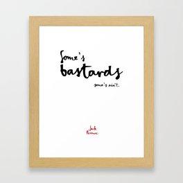 Bastards-white Framed Art Print