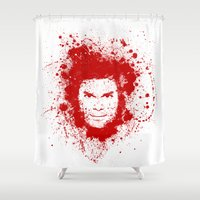 dexter Shower Curtains featuring Dexter by David