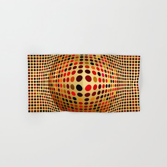 Ball illusion art Hand & Bath Towel
