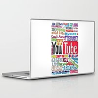 youtube Laptop & iPad Skins featuring Youtube Colored Collage by emma