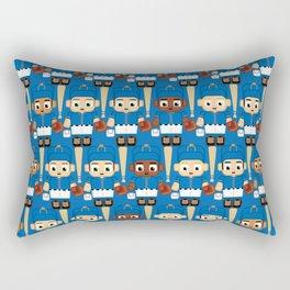 Baseball Blue and Orange - Super cute sports stars Rectangular Pillow