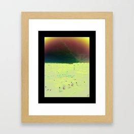 sky of suburbs Framed Art Print