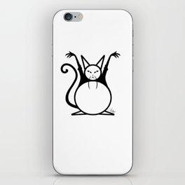 Fat Master Cat iPhone Skin