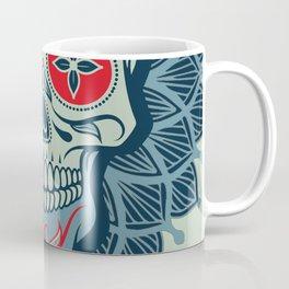 Rubino Rise Skull Reb Blue Coffee Mug