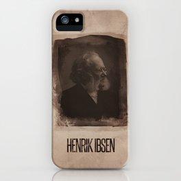 Henrik ibsen iPhone Case