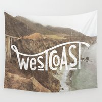 west coast Wall Tapestries featuring West Coast by cabin supply co