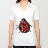ladybug V-neck T-shirts featuring Ladybug by Knot Your World