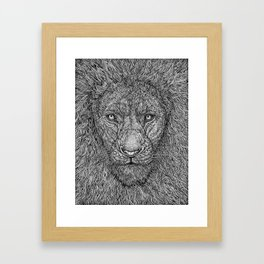 The Lion King of the Jungle by Kent Chua Framed Art Print