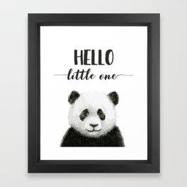 Panda Art Print Baby Animals Hello Little One Nursery Decor Framed Art Print