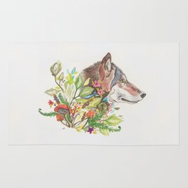 Forest Wolf Rug