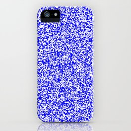 Tiny Spots - White and Blue iPhone Case